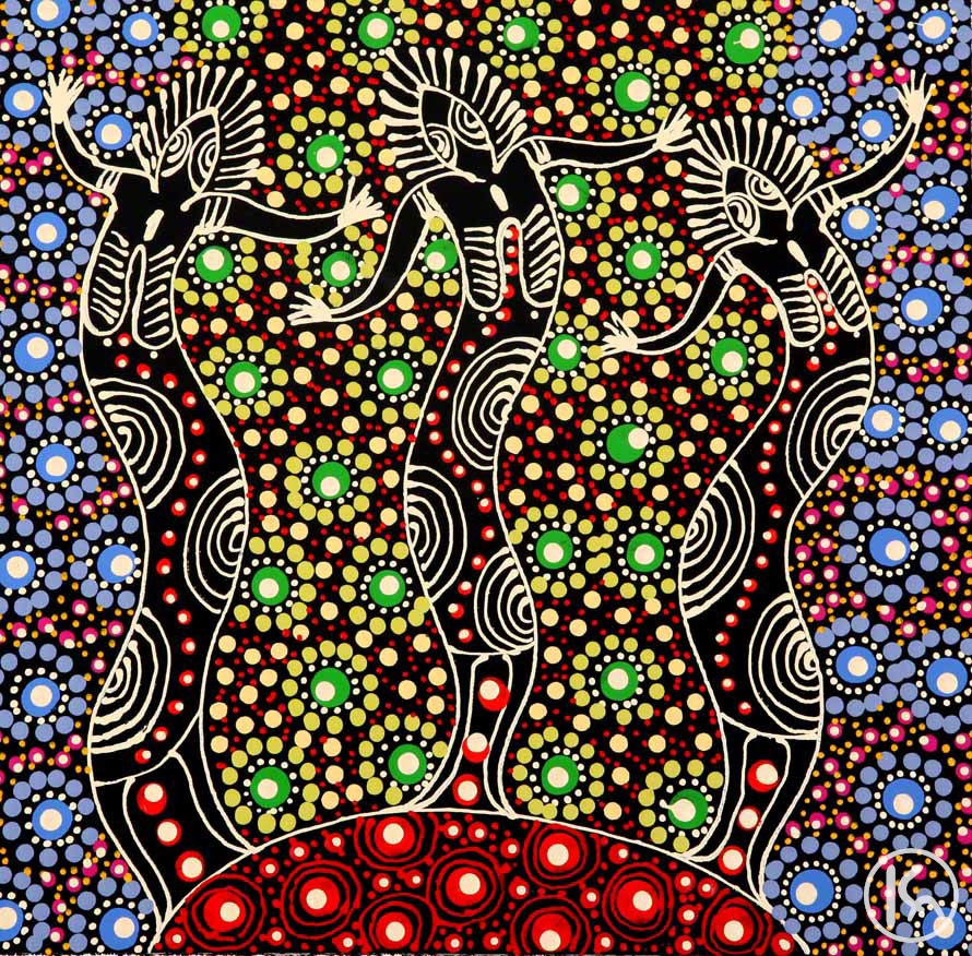 Dreamtime Sisters by Colleen Wallace Nungari from Utopia, Central