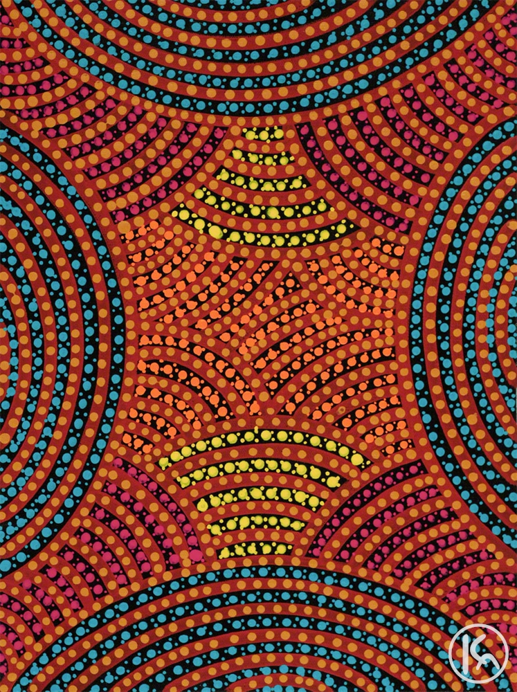 Aboriginal Body Painting By Colleen Wallace Nungari From Utopia