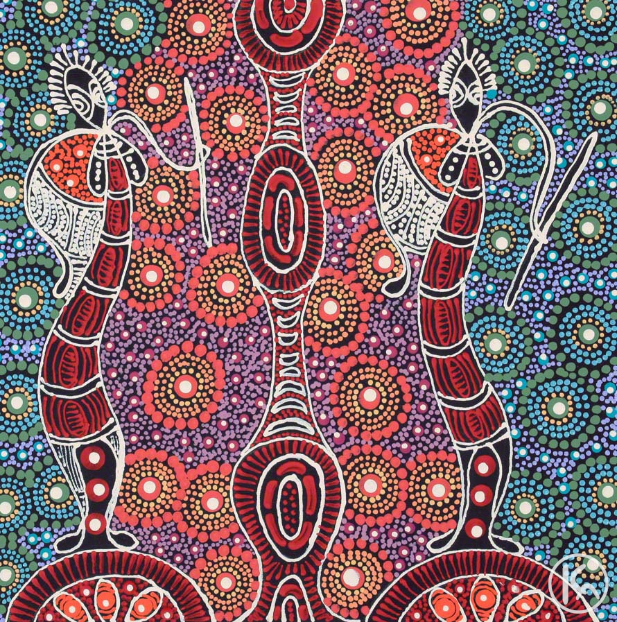 Dreamtime Sisters By Colleen Wallace Nungari From Utopia Central