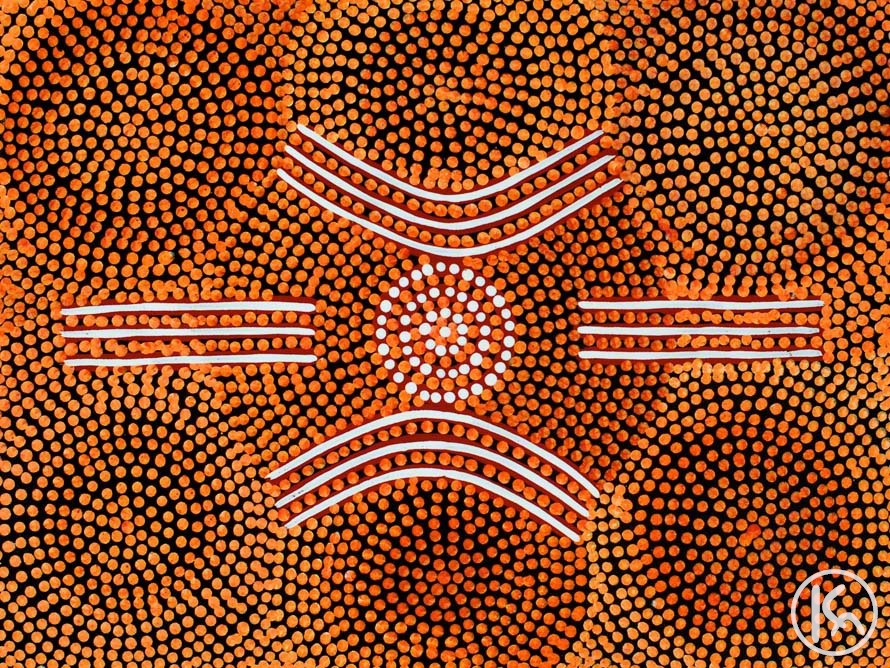 Meeting Place By Bevan Tjampitjimpa From Ti Tree Central Australia