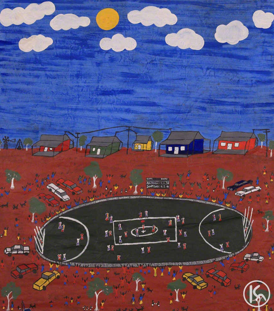 Footy Game at Utopia (IW6437), Lily Lion Kngwarreye