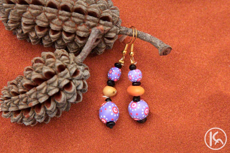 Ininti Seed Earrings (LC0903060), Leonie Campbell