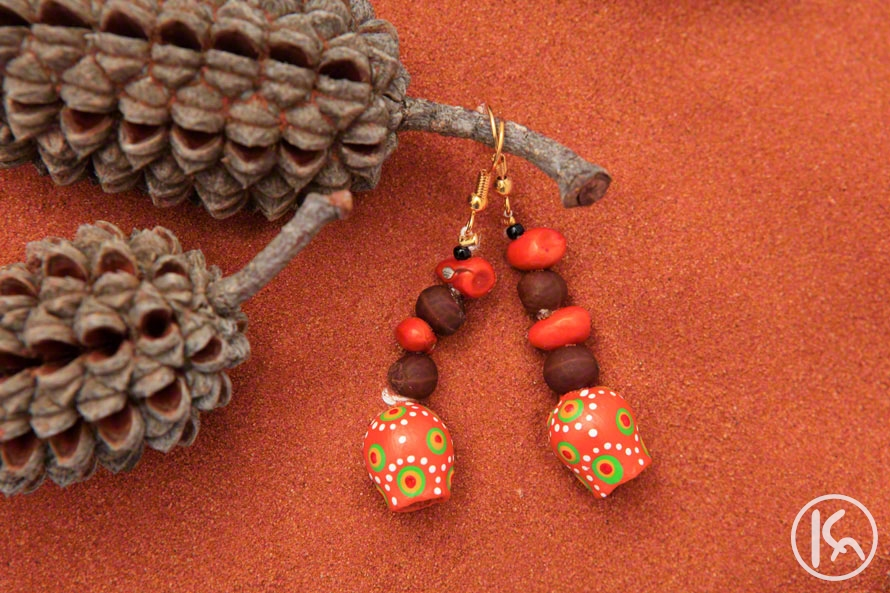 Ininti Seed Earrings (LC0903065), Leonie Campbell
