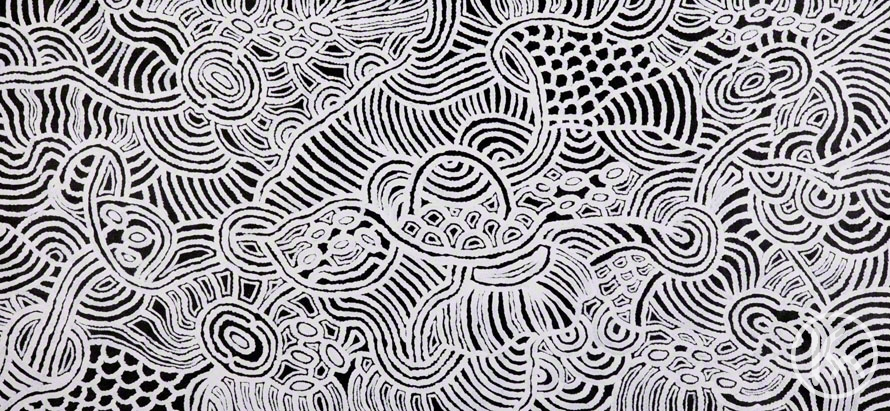 Ngapa Water Dreaming By Janet Long Nakamarra From