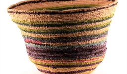 Coiled Fibre Bush Basket (AD100704)