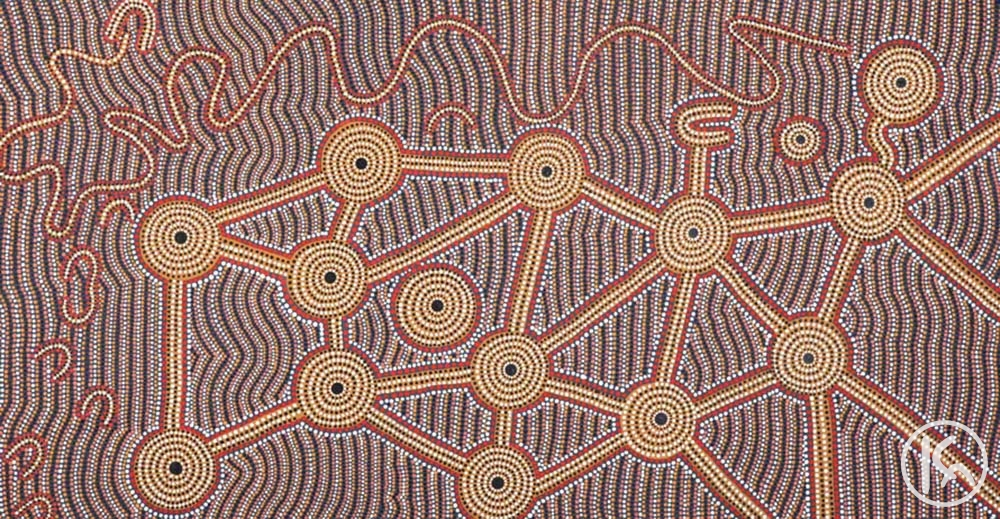 Travelling to Ceremony (10102249), Brian Young Jagamarra